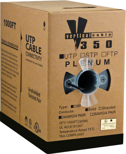 Cat5e UTP Plenum Black CMP 056-460 P BK 2