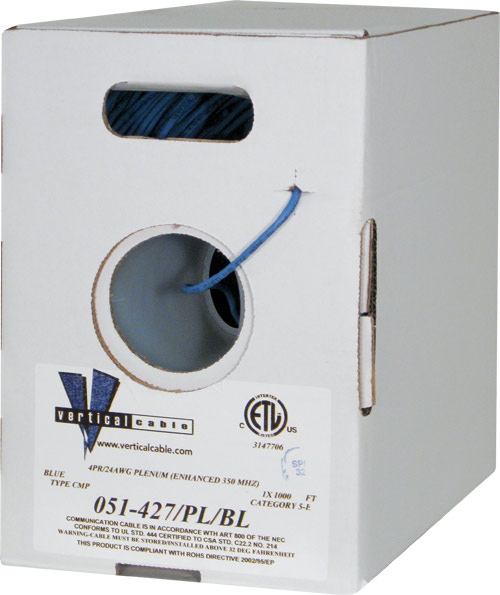 Cat5e UTP Plenum Blue 051-427 PL BL 2