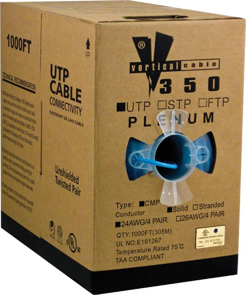 Cat5e UTP Plenum Blue CMP 056-461 P BL 2