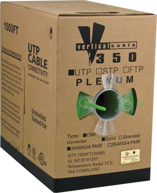 Cat5e UTP Plenum Green 056-462 P GR 2