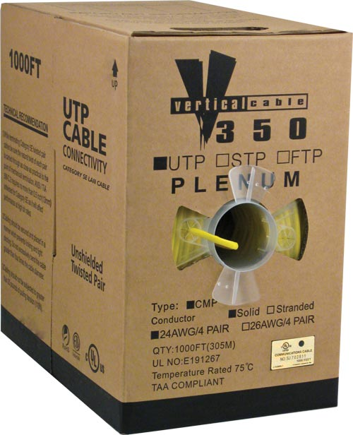 Cat5e UTP Plenum Yellow CMP 056-467 P YL 2